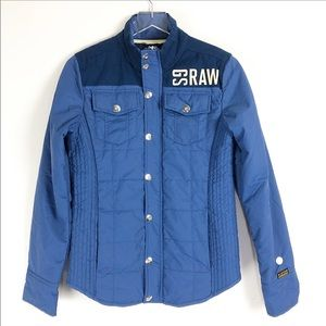 G-Star Raw | NWOT Hawkeye Quilted Blue jacket